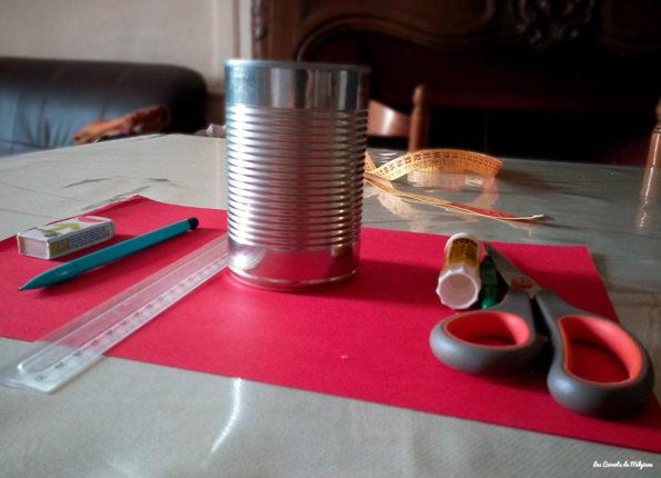 rangement à crayon materiel